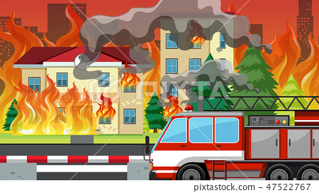 Fire in the villlage 47522767