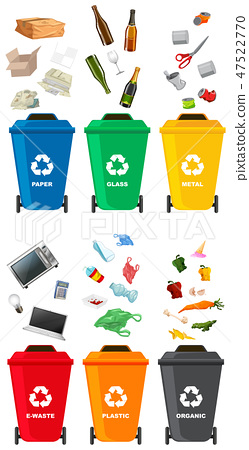 Set of different trash can 47522770