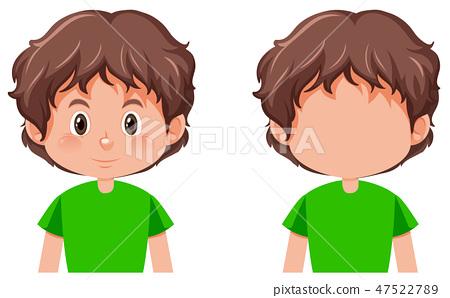 Set of boy character 47522789