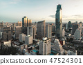Aerial view of Bangkok modern office buildings 47524301