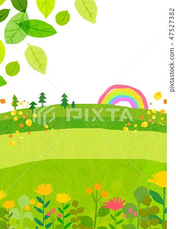 自然風景小山山天空拼貼畫 47527382