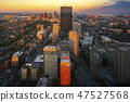 Aerial view of Boston in Massachusetts 47527568