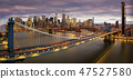 Panorama of Brooklyn bridge 47527580