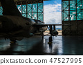 American military bomber aircraft with bombs  47527995