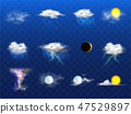 rain, thunderstorm, clouds 47529897
