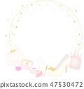 Feminine fashion frame 47530472