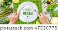 Vegan Realistic Ad Poster 47530775