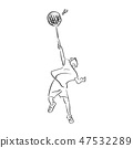 boy playing badminton vector illustration sketch 47532289