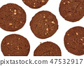 Traditional chocolate cashew butter cookies 47532917