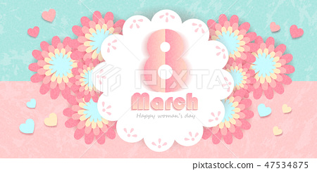 happy womans day with flower 47534875