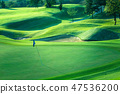 Golf course beautiful turf and putting green 47536200