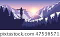 hiking girl mountain 47536571