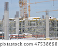 Building construction site with scaffolding 47538698