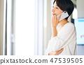 ผู้หญิงธุรกิจทำโทรศัพท์ 47539505