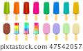 Ice cream isolated on white background 47542057