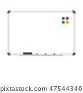 Empty dry erase whiteboard 47544346