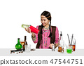 Expert female barman is making cocktail at studio 47544751