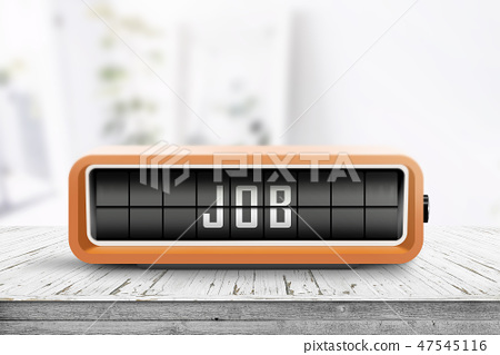Job announcement displayed on a retro alarm clock 47545116