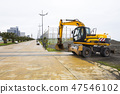 Excavator at a construction site 47546102