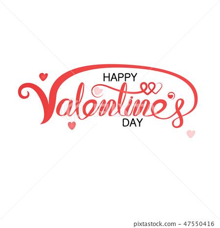 Happy Valentines Day Typography Poster. 47550416