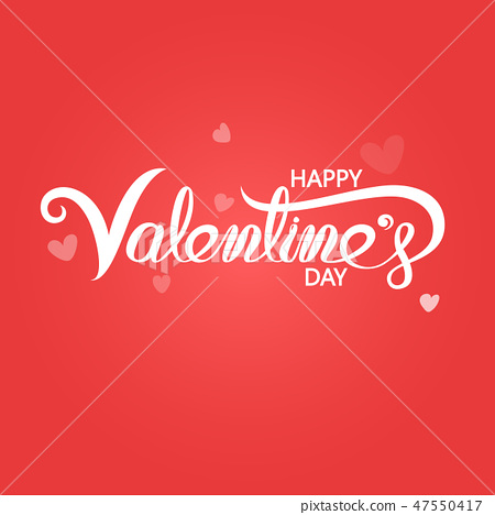 Happy Valentines Day Typography Poster. 47550417