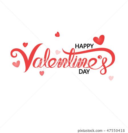 Happy Valentines Day Typography Poster. 47550418