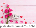 Valentines day and love concept. Pink roses 47552261
