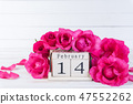 Valentines day and love concept. Pink roses 47552262