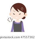 表達憤怒的主婦與嘆氣 47557362