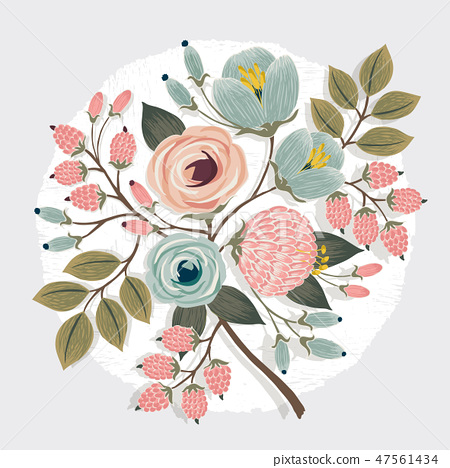 Vector illustration of a floral bouquet in spring 47561434