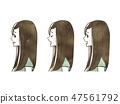 女性 - 面部表情(個人資料) 47561792
