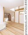 明亮的起居 - 用餐房新建的房屋設有柱廊 47561840