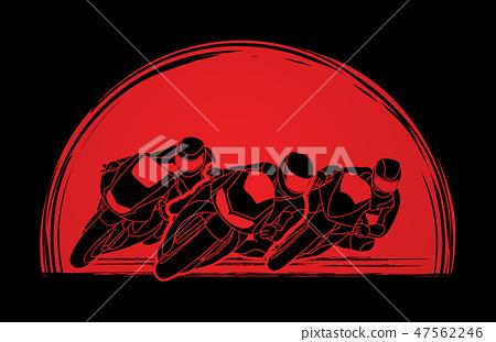 Motorcycles racing graphic vector 47562246