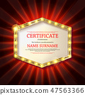 vector, certificate, frame 47563366