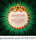 vector, certificate, frame 47563367