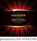 gold, certificate, vector 47563385
