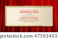 vector, certificate, diploma 47563403