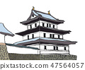 Illustration Matsumae Castle 100 Great castle 47564057