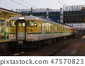 Echigo line 115 series near the end (Yahiko Line color) 47570823