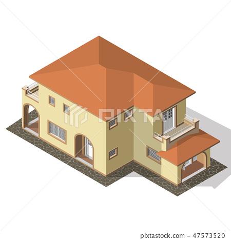 Cottage Isometric Vector 47573520