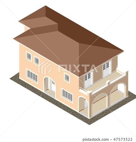 Cottage Isometric Vector 47573522