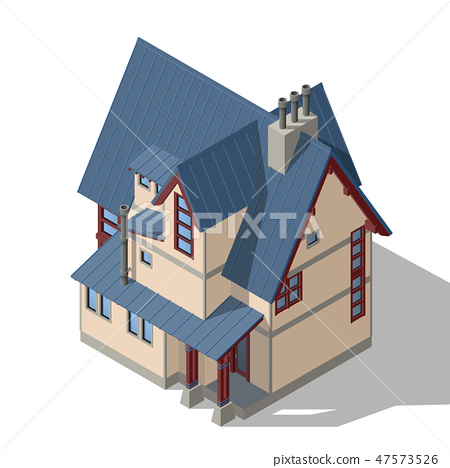 Cottage Isometric Vector 47573526
