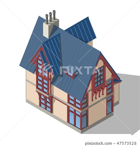 Cottage Isometric Vector 47573528