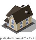 Cottage Isometric Vector 47573533