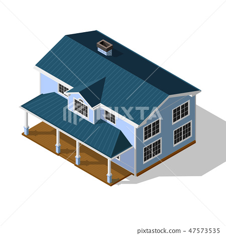 Cottage Isometric Vector 47573535