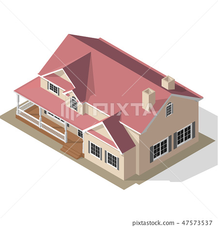 Cottage Isometric Vector 47573537