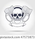 football, skull, rugby 47573873