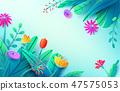 leaf flower origami 47575053