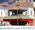 Pashupatinath complex, sacred Hindu temple in traditional Nepal style. 47575912