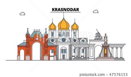Russia Krasnodar City Skyline Architecture Stock Illustration 47576153 Pixta